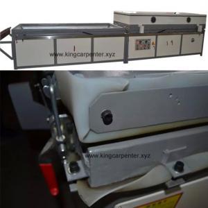 Wholesale Semi-automatic PVC film wood veneer vacuum membrane press machine for cabinet WPC door from china suppliers
