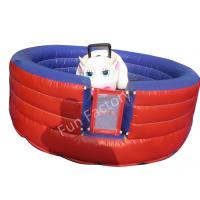 Wholesale 0.55 mm / 15OZ PVC Tarpaulin Inflatable Mechanical Bull Games For Adults from china suppliers