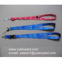 Sublimation transfer print lanyard with plastic breakaway buckle