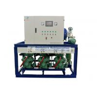 Quality Bitzer two stage piston type refrigeration compressor unit for R404a blast freezers for sale