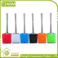 Wholesale Candy Color Square And Round Holder Toilet Cleaning Brushes With Stainless Steel Handle from china suppliers