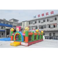 Wholesale Plato PVC Tarpaulin Inflatable Bouncy Castle For Toddler / Inflatable Fun City from china suppliers