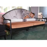Wholesale Artistic Wooden Frame Hotel Lobby Sofa Set / Orange Velvet Upholstered Couches Sofas from china suppliers