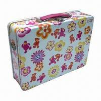 Wholesale Flower Lunch Box, Various Colors and Sizes Available, Sized 257 x 188 x 74mm from china suppliers