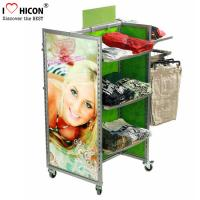 Wholesale Merchandising Retail Gondola Shelving Metal Storage Clothing Store from china suppliers