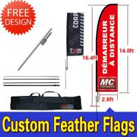 Wholesale Windchaser Feather Flags Banner with fiberglass pole , cross base and carry bag from china suppliers