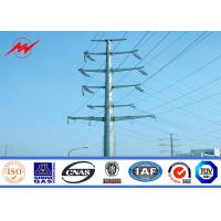 Quality BV 11.8m - 1250dan Galvanized Steel Light Pole / Utility Pole With Climbing Rung for sale