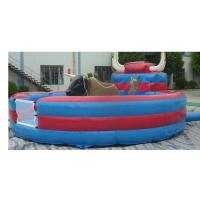 Wholesale 0.55mm PVC Mechanical Bucking Bull , Blue Mechanical Bull Comerial Use from china suppliers