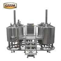 Wholesale 3mm Steam Heated Pub Brewhouse , 15 BBL Stainless Steel Micro Brewing Equipment from china suppliers