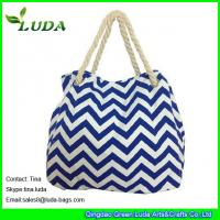 Wholesale LUDA discount purses latest handbags cute blue chevron wave  canvas shopping bag from china suppliers