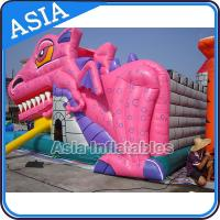 Wholesale Lovely Inflatable Pink Snappy Dragon Bouncy Castle For Backyard Games from china suppliers