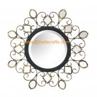 Wholesale China manufacturer beautiful design antique decorative round shape wall mirror from china suppliers