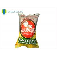 Wholesale 140 Micron Food Grade Printed Laminated Pouches Back Sealing Inflatable Chips from china suppliers