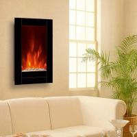 "Wholesale 23""Bevel Edge Mirror Standing Wall Mounted Electric Fireplace Heater(Pebbles Fuel) LED flame effect room heater hot sale from china suppliers"