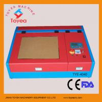 Wholesale Mini Craft laser engraving machine with 50W laser tube TYE-4040 from china suppliers