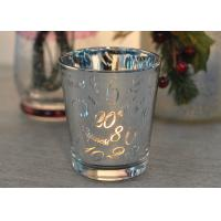 Wholesale Mercury Glass Candle Holders Votive Set Wedding Decoration with Laser Numbers from china suppliers