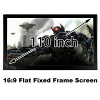 "Wholesale Fast Delivery HD Projector Screen 110"" Flat Fixed Frame Projection Fabric 16:9 Ratio from china suppliers"