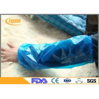 Wholesale Colored Disposable Plastic Arm Sleeves , Arm Cover Protectors For Food Service from china suppliers
