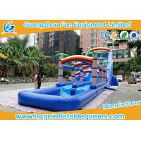 Wholesale water slide factory PVC Tarpaulin  coconut tree inflatable commercial slide with pool  For Event inflatable Bounce Slide from china suppliers