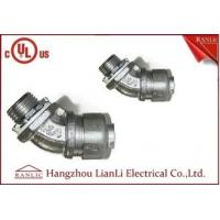"Wholesale 3/4""UL Listed Liquid Tight Malleable Iron Steel Lock Insulated Flexible Connector Galvanized 45 Degree from china suppliers"
