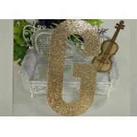 Wholesale Die Cut Gold Decorative Glitter Paper Letters For Banner And Cake Topper from china suppliers