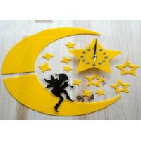 Quality Home Decor Plastic Sticker Wall Clock Silent Movement For Wedding Gift for sale