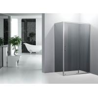 Wholesale Square Door Smoking Glass Sliding Shower Enclosure With Stainless Steel Handle from china suppliers