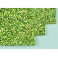 Wholesale 12*12 Inch Size Light Green Glitter Paper DIY Glitter Paper With Woven Backing from china suppliers