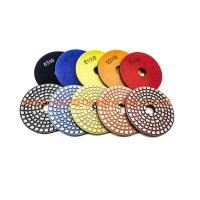 China 4 Inch Diamond Polishing Pads One Piece Sintering Concrete Polishing Pads on sale