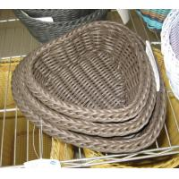 Wholesale High Quality PP Rattan Heart Shape Storage Basketry from china suppliers