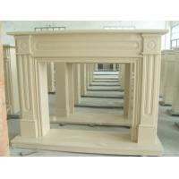 Wholesale Cream Yellow Marble Fireplace, Elegant Marble Fireplace from china suppliers