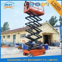 Wholesale 8M 450KG Electric Aerial Scissor Lift , Self Propelled Work Platform CE ISO from china suppliers
