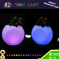 Wholesale Wedding Decoration Color Changing LED Plastic Pot from china suppliers