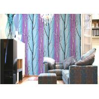 Quality Non Pasted PVC Interior Room Wallpaper Asian Style Wallpaper With Tree Printing for sale