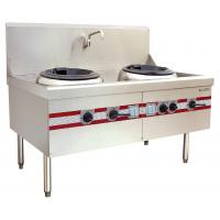 Quality Air Blast Type Wok Range Double Burner Cooking Stove 1500 x 910 x (810+back) mm for sale