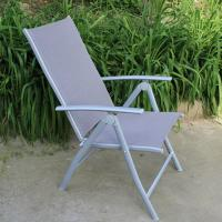 Wholesale outdoor iron sling textilene mesh fabric folding arm chair also as bed from china suppliers