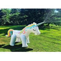 China 200CM PVC Sprinkle water Unicorn Inflatable Water Floats Rainbow Unicorn Float on sale
