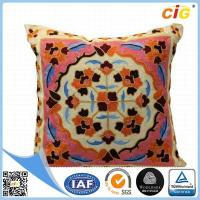 Wholesale Washable Home Decorative Throw Pillow Covers for Sofa or Bed Red / Dark Brown / Buff / Gray from china suppliers