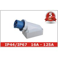 Wholesale 125 Ampere IP67 63A Industrial Plugs And Sockets 230V 380V , Surface Mounted from china suppliers