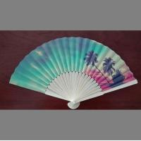 Wholesale custom design paper folding fan with bamboo frame , perfect item for decoration, wedding or promotion from china suppliers