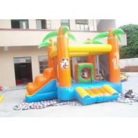 Wholesale Kids / Adults Small Inflatable Bouncy Castle With Slide Orange from china suppliers