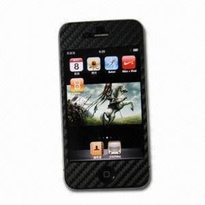 Wholesale Black Carbon Fiber Screen Protector for Apple