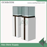 Wholesale Ultra glass watches showcase used for retail store display tower white cabinet from china suppliers