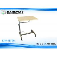Wholesale Stainless Steel Adjustable Hospital Tray Table , Antirust Hospital Style Bed Table from china suppliers