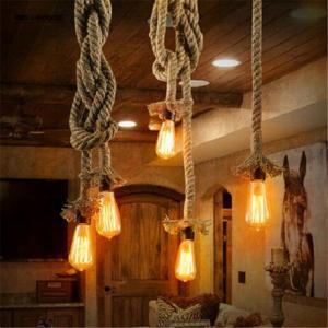 Wholesale Retro loft Vintage Pendant Lights Loft DIY Rope Pendants Lamps Industrial Lamp lustres de teto suspension luminaire from china suppliers