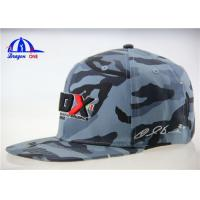 Wholesale Logo Printing Promotional Camo Baseball Caps / Flat Bill Flexfit Baseball Cap from china suppliers