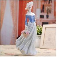 Quality The modern home decoration accessories European girl figurines for sale