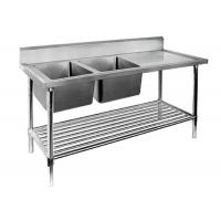Wholesale Restaurant Prep Table With Sink 1 / 2 / 3 Sinks Stainless Steel Sink Table from china suppliers