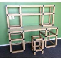 Wholesale Square Cardboard Tube Furniture Strorage Shelves For Book Store from china suppliers