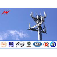 Wholesale 35M Height Round Sections Galvanized Monopole Cell Tower With Galvanized Stepped Bolt from china suppliers
